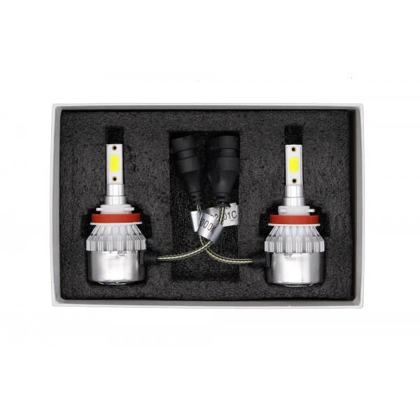 Светодиодные автолампы MYX C6 H11 12V 18W COB 6000K цена за 2шт.
